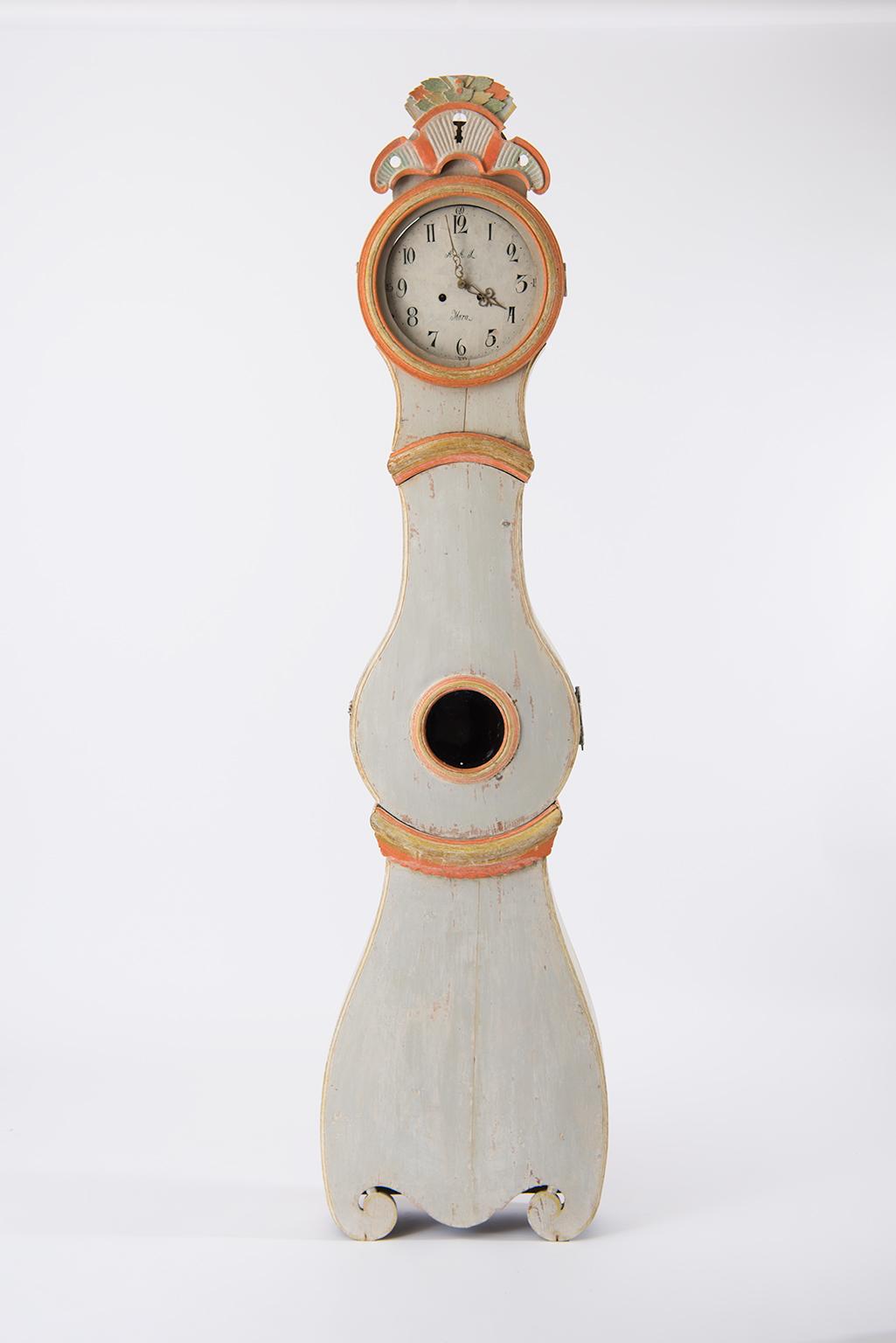 19th Century Swedish Rococo Mora Clock