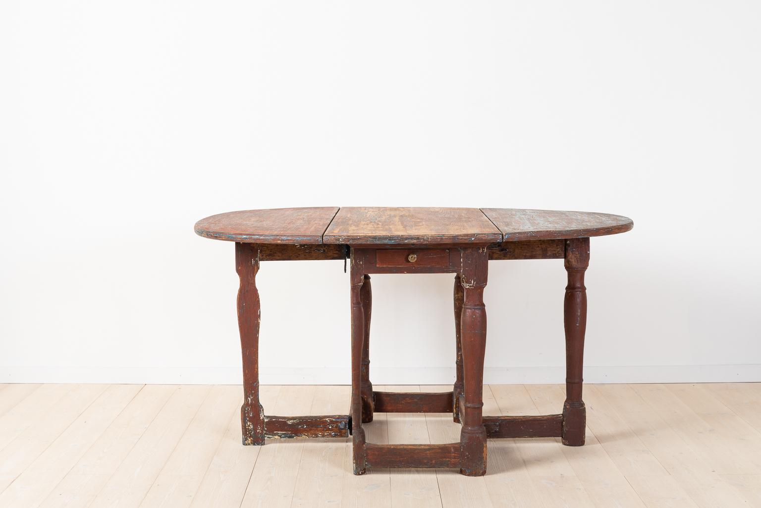 Swedish Baroque Drop Leaf Table