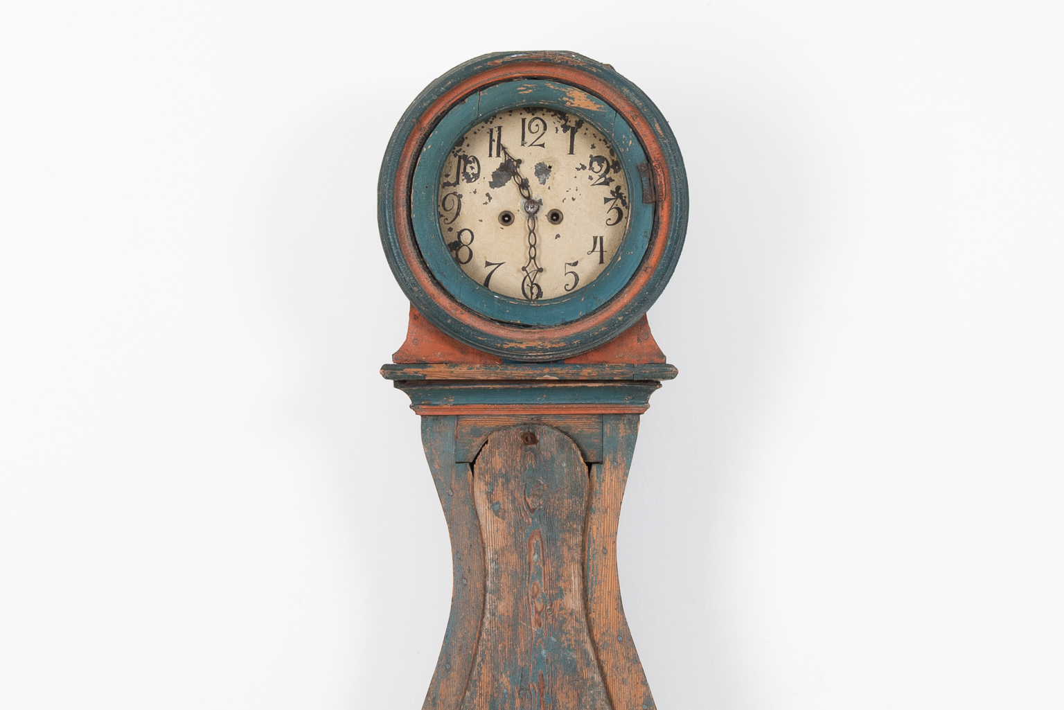 Rococo Mora Clock with Patina from Sweden