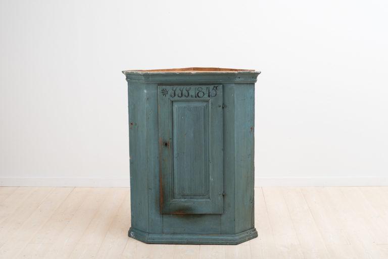 Folk Art Corner Cabinet