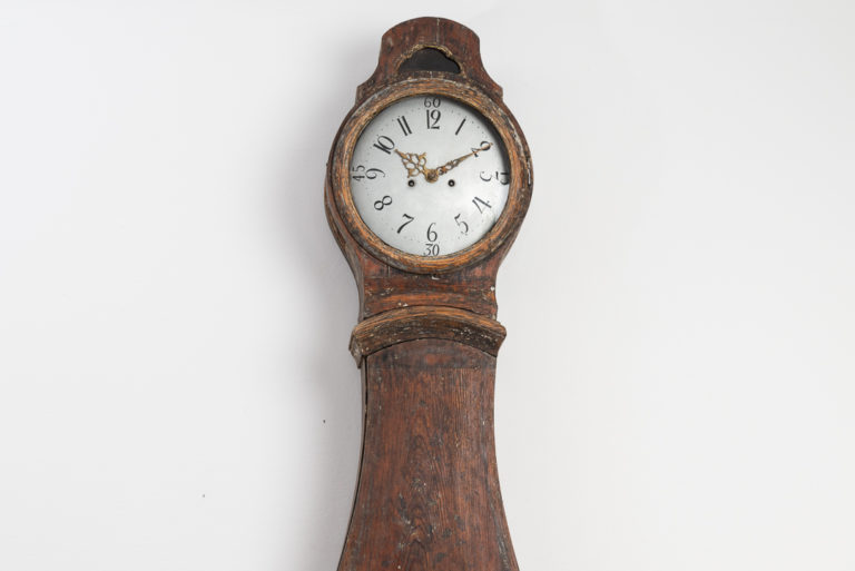 Rococo Mora Clock from the 18th Century's Stockholm