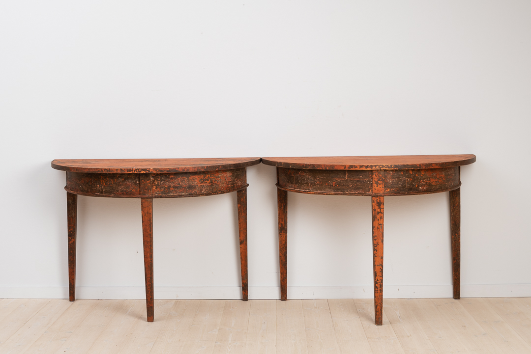 demi lune table fr n antik. Black Bedroom Furniture Sets. Home Design Ideas