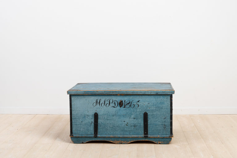 Blue Chest with Date and Monogram