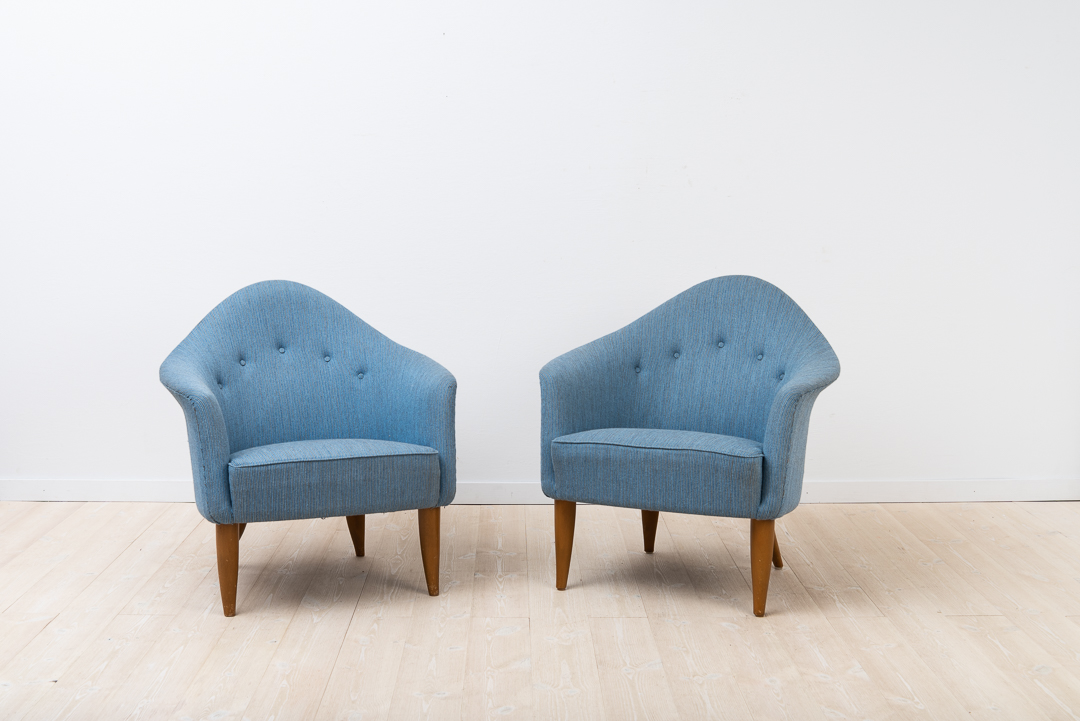 "KERSTIN HÖRLIN-HOLMQUIST ""Lilla Adam"" pair of lounge chairs"