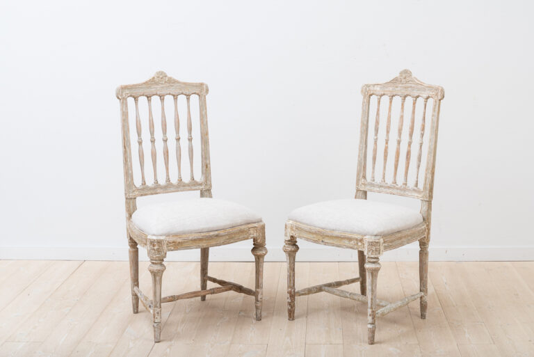 2 Gustavian Chairs with Traces of Original Paint