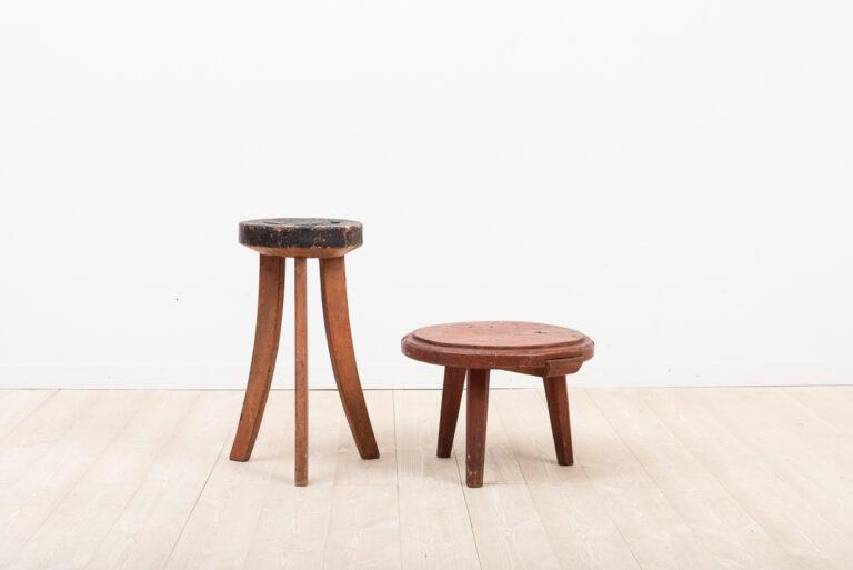 Swedish folk art stool