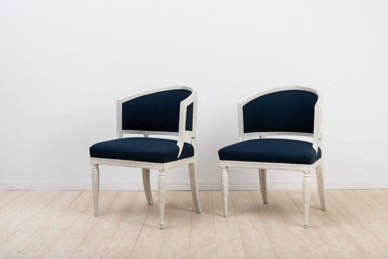 A Pair of Barrel Back Chairs from Sweden
