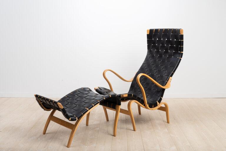 Lounge Chair Pernilla 2 with Pernilla 69 Ottoman