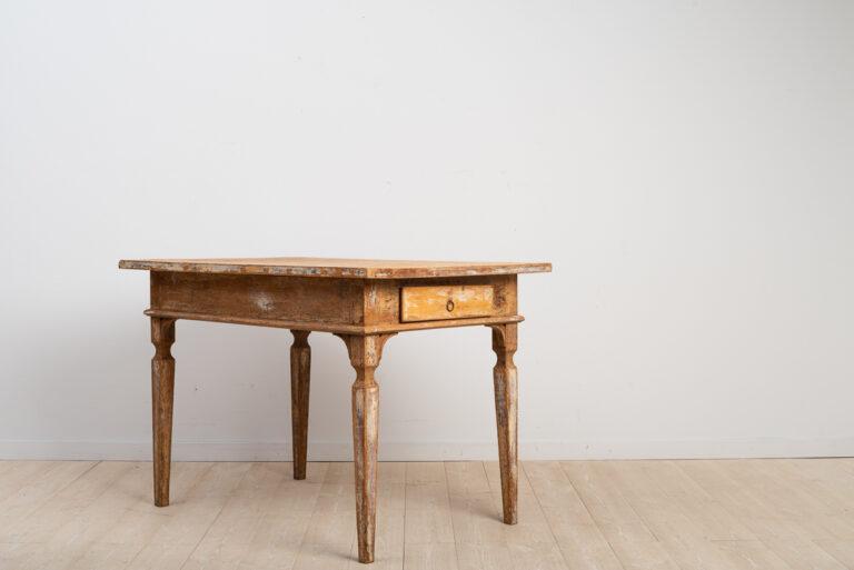 Folk Art Table in Gustavian Style from Sweden