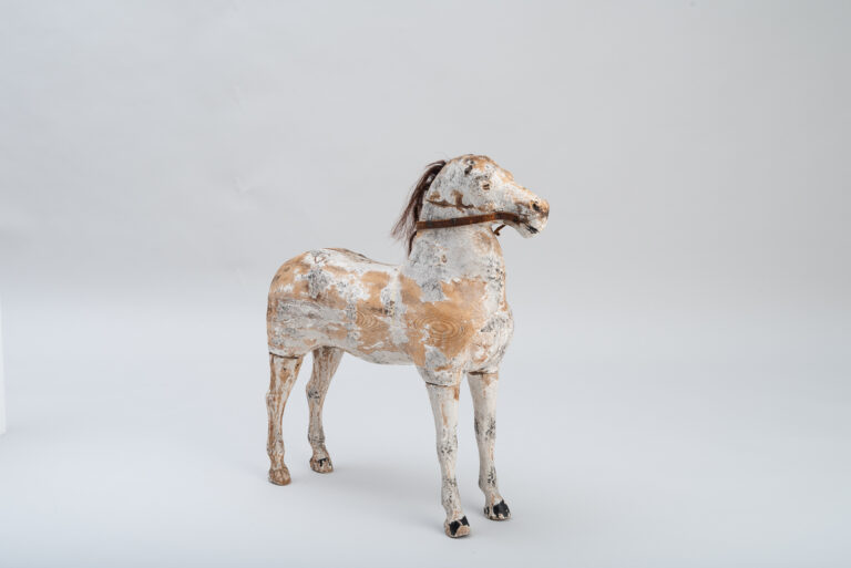 Folk Art Wooden Horse in Untouched Condition