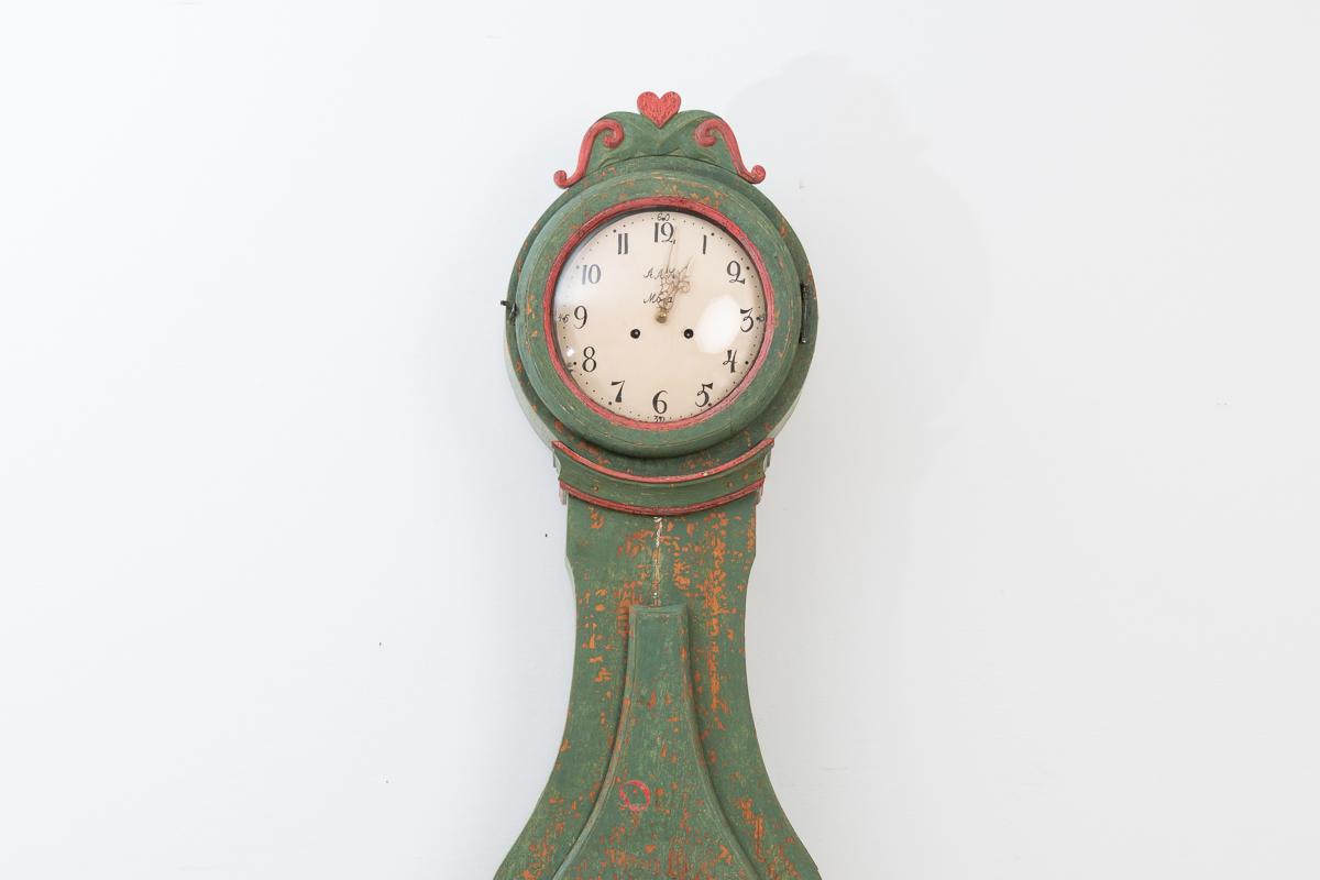 Long case rococo clock model 1820