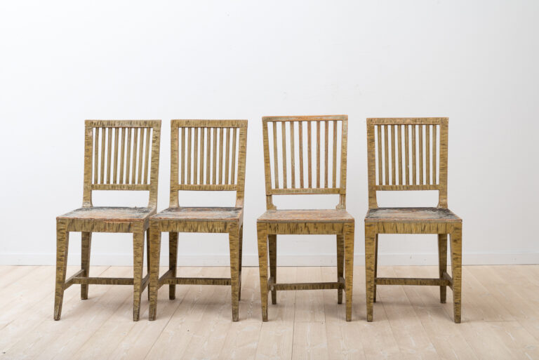 Gustavian Styled Chairs in Original Condition