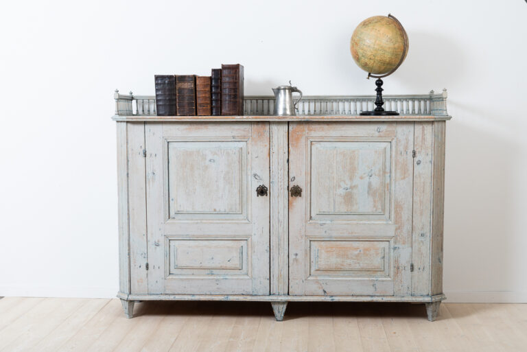 Gustavian Sideboard with an Ornate Balustrade