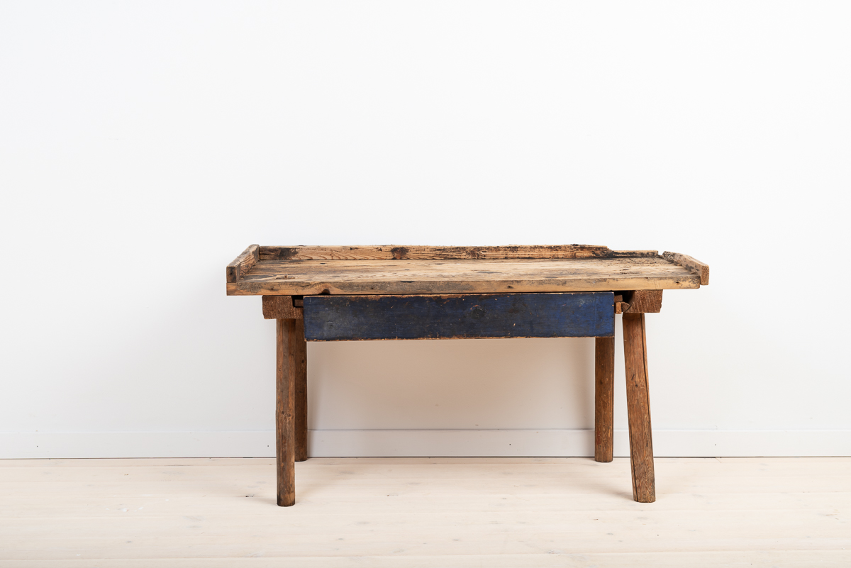 Rustic Folk Art Table Manufactured in Sweden