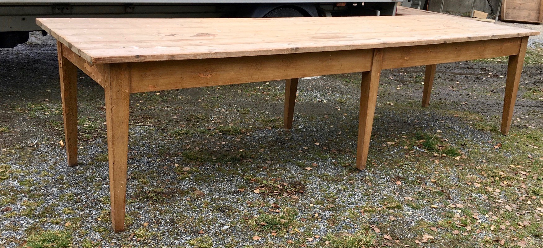 Large Dining Room Table in Pine from Sweden