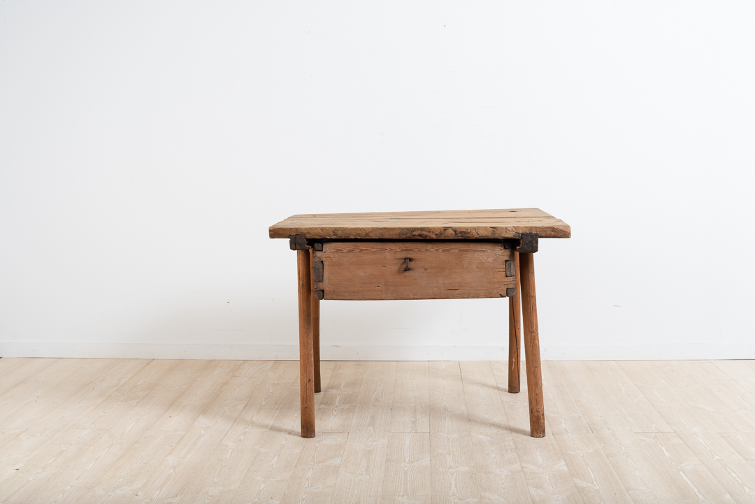 Old Fashioned Folk Art Table in Pine