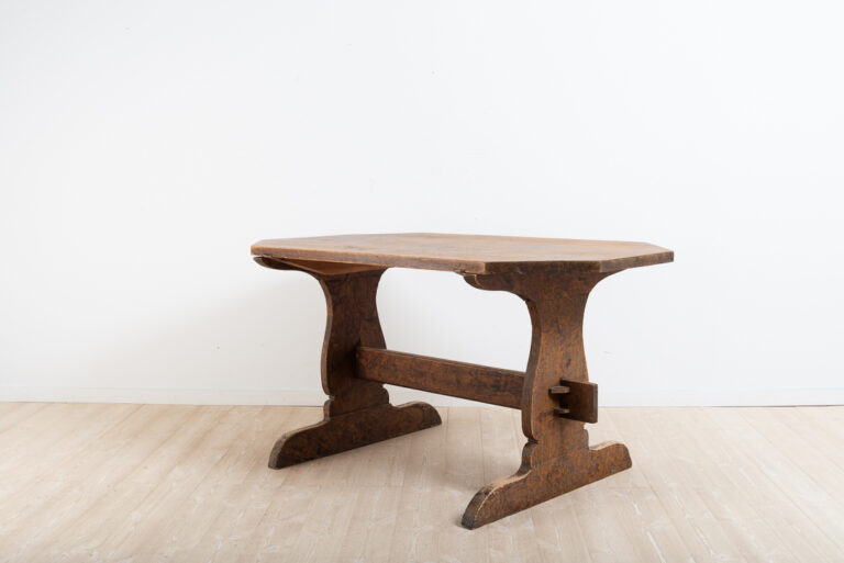 Folk Art Dining Table from Northern Sweden