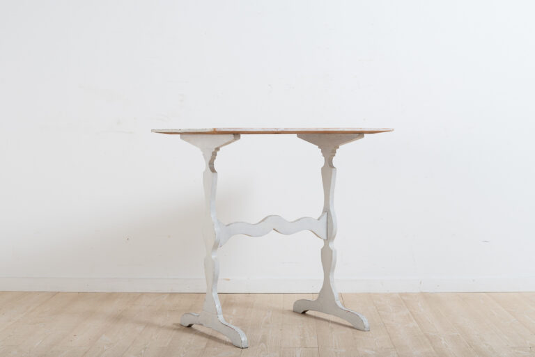 Swedish 19th Century Table with Original White Paint