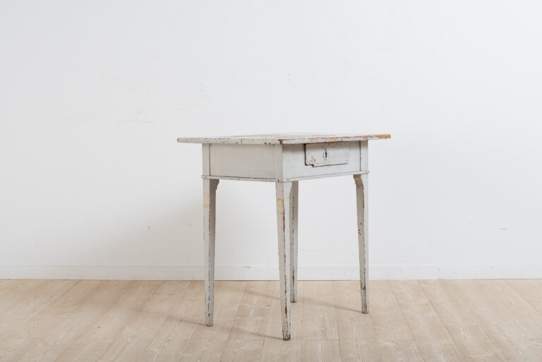 Gustavian Side Table with Drawer and Historic Paint