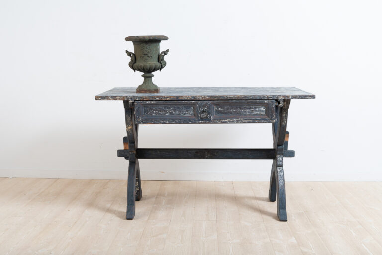 Folk Art Trestle Table from the Late 18th Century