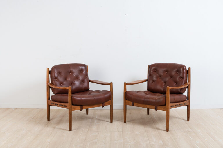 Vintage Leather Armchairs LÄCKÖ by Ingemar Thillmark
