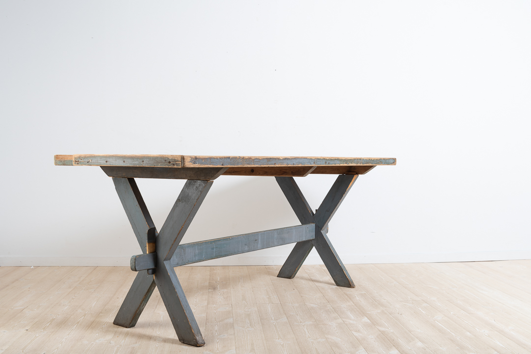 Worktable / Dining Table in Painted Pine