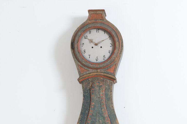 Classical Swedish Long Case Clock in Rococo