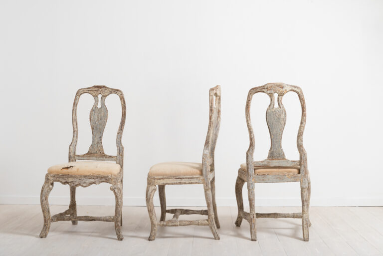 Three Late Baroque Chairs Circa 1770