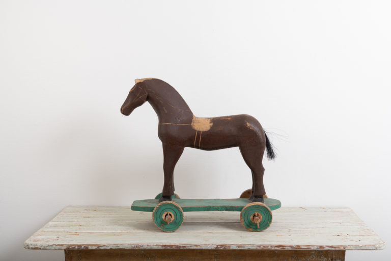 Antique Toy Horse in Painted Pine 1880