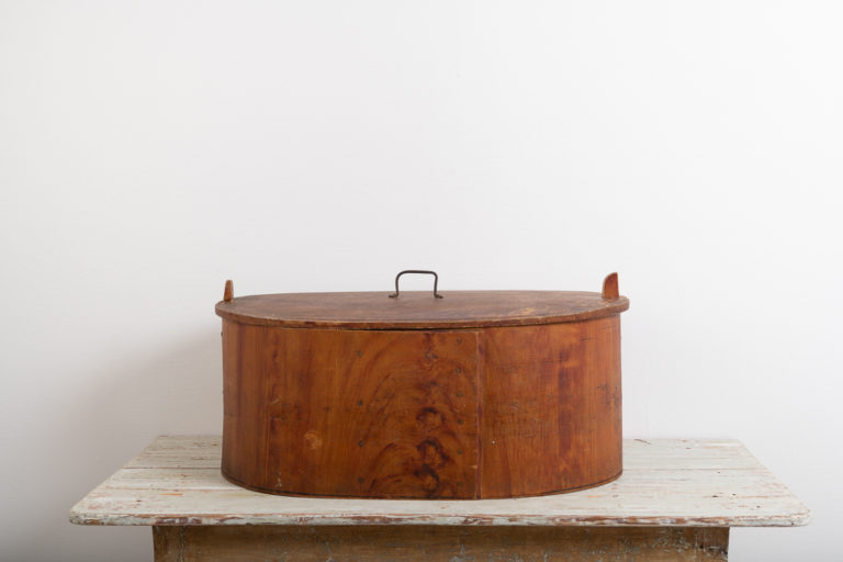 Large Bentwood Box with Faux Paint