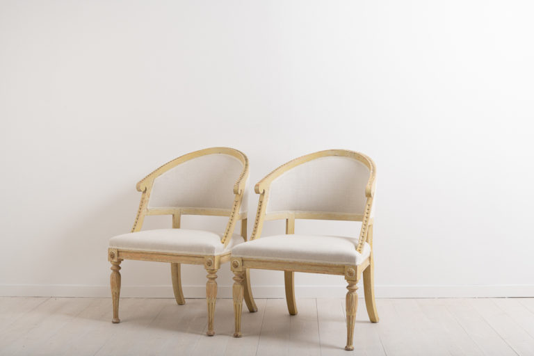 Barrel Back Chairs in Gustavian Style