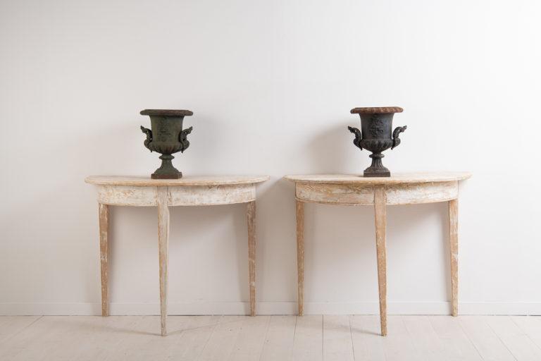 Demi Lune Tables in Gustavian Style