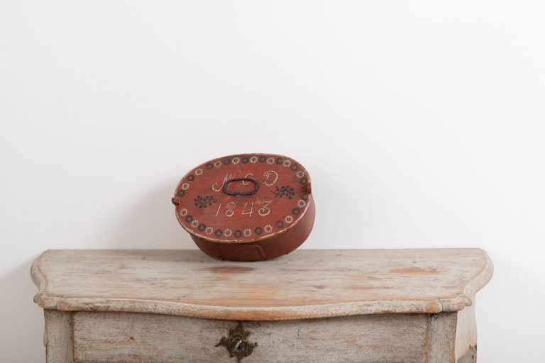Folk Art Bentwood Box with Date and Monogram