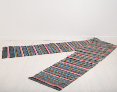 Folk art rag rug from the late 1800s. Never used, as new and in completely untouched condition. From northern Sweden.