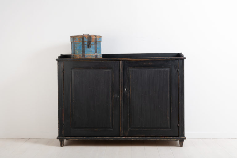 Black Gustavian Sideboard with Later Paint