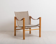 ELIAS SVEDBERG safari chair for NK - Nordiska Kompaniet in Sweden. The chair is a part of the Trivia series and from the second half of the 20th century.