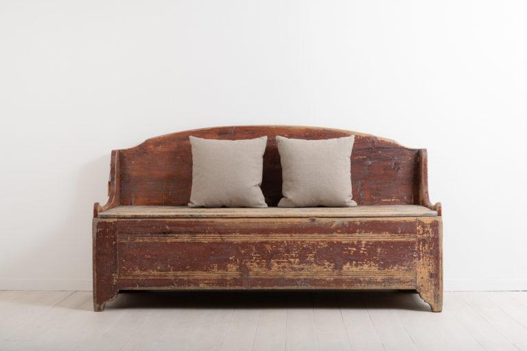 Rustic Folk Art Bench in a Primitive Style