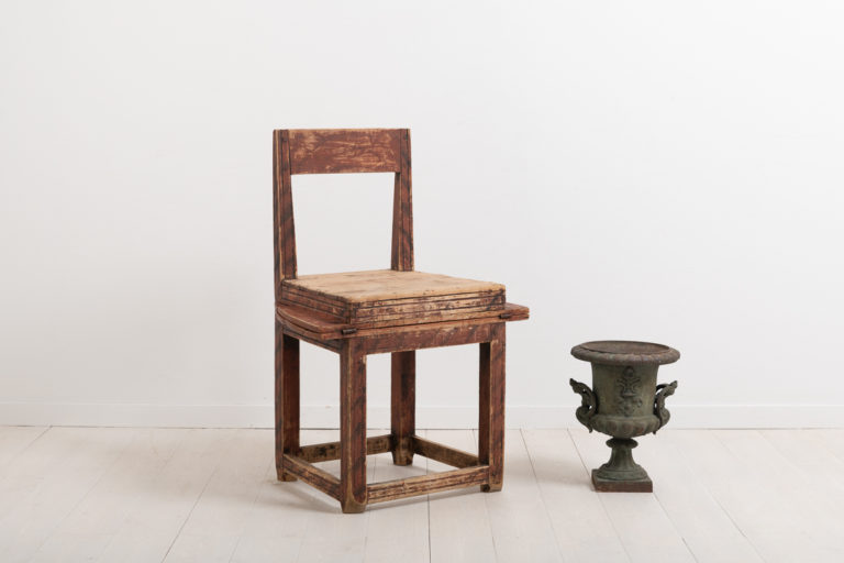 Combined Folk Art Chair and Table from the 1800s