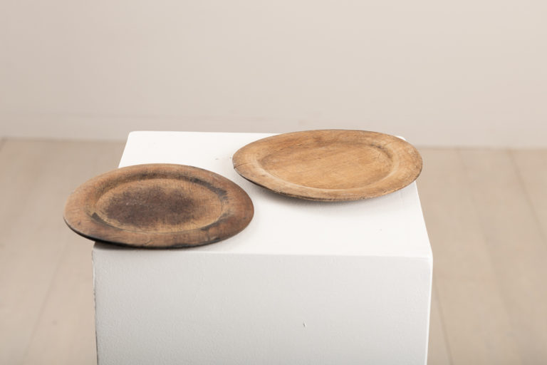 Wooden Plates in a Set of Two Northern Sweden