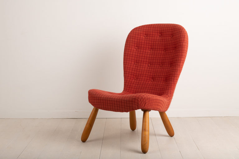 Clam Chair or Muslinge Armchair Attributed to P. Arctander