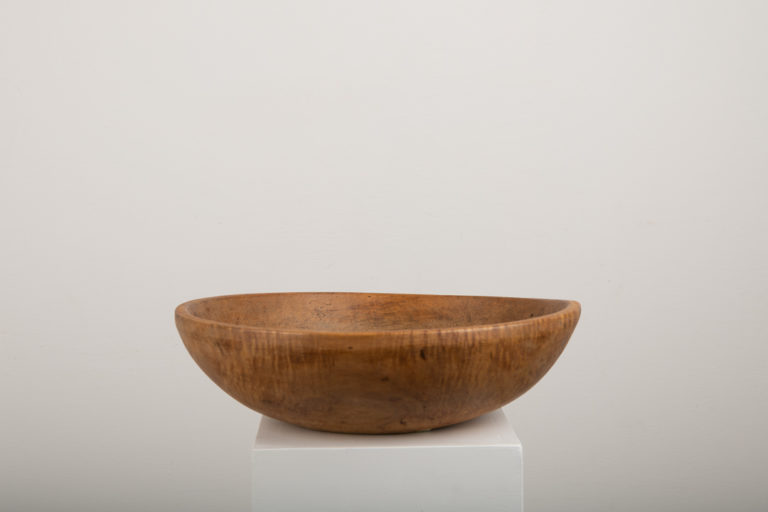 Large Wooden Bowl with Date and Monogram