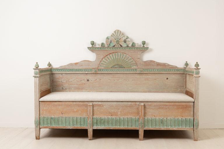 Neoclassical Swedish Sofa with Unusual Decor