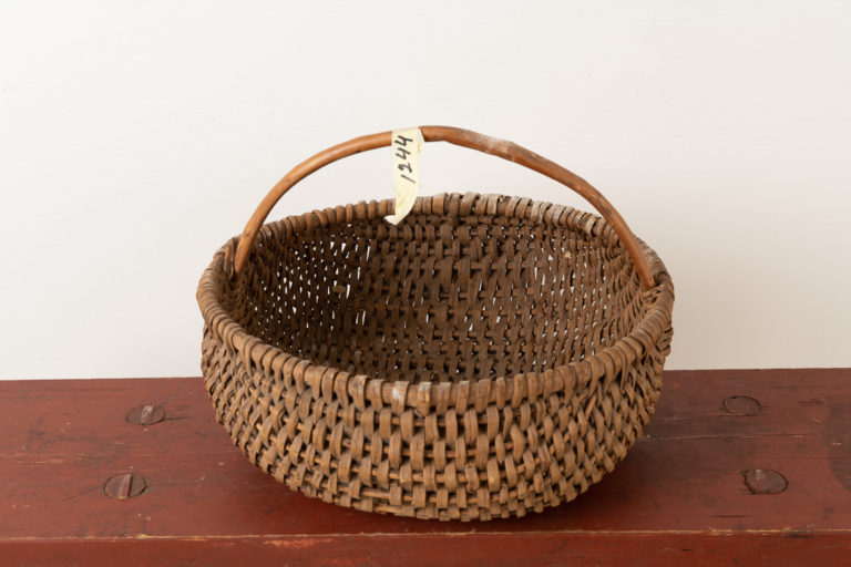 Folk Art Woven Basket from the 19th Century