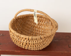 Late 19th century basket of the folk art period. The basket has some minor signs of wear but is otherwise in good antique condition.  For more Miscellaneous