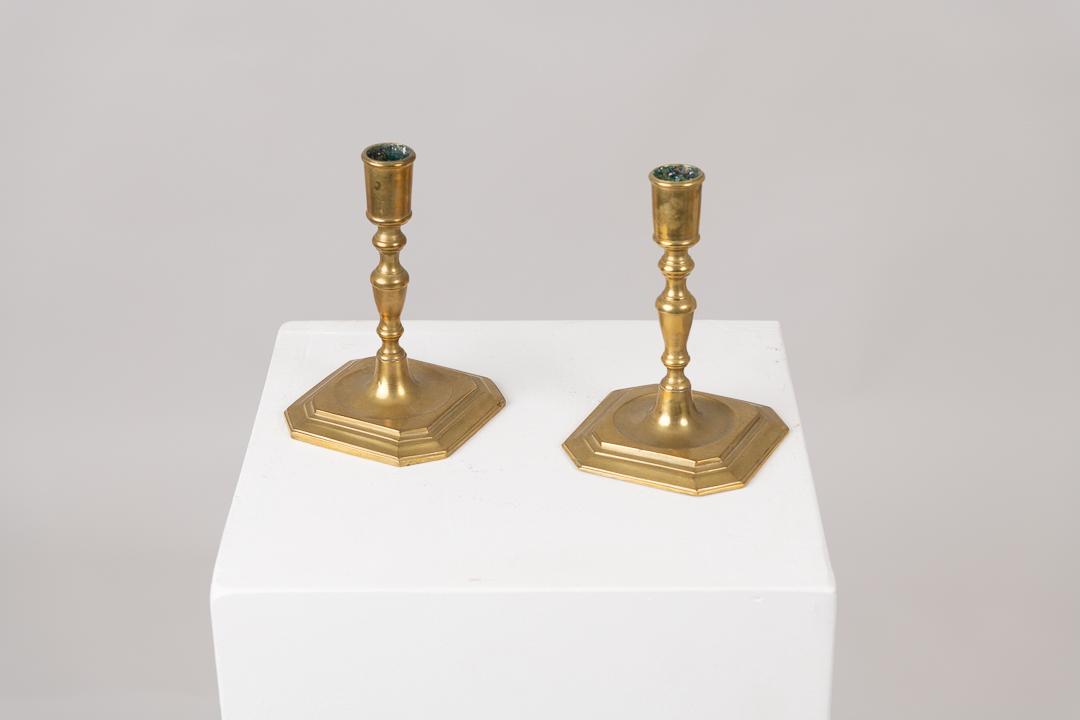 Brass Candlestick in Swedish Baroque