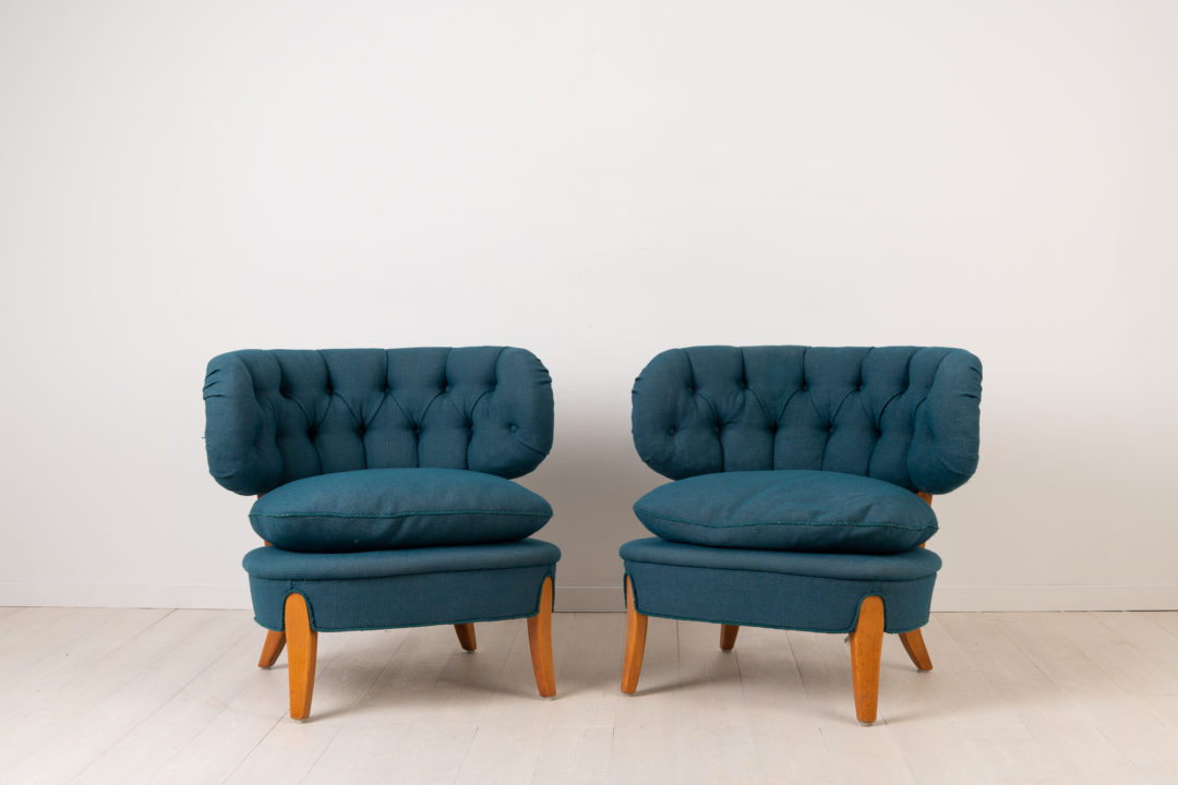 Pair of Schulz Easy Chairs - Otto Schulz Lounge Chairs