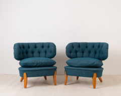 Pair of Schulz Easy Chairs - Otto Schulz Lounge Chairs. Otto Schulz was active during parts of the 20th century and these lounge chairs were designed 1936