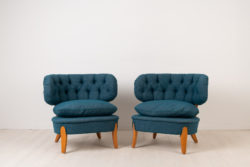 Pair of Schulz Easy Chairs - Otto Schulz Lounge Chairs.Otto Schulz was active during parts of the 20th century and these lounge chairs were designed 1936