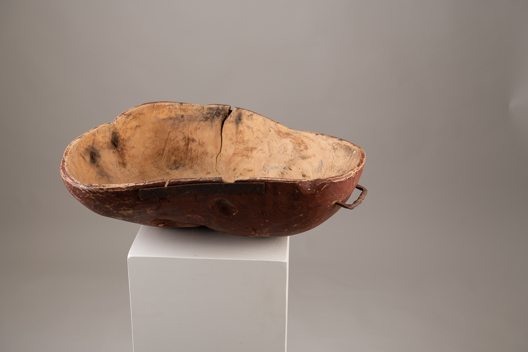 Unusually Large Wooden Bowl with Organic Shape