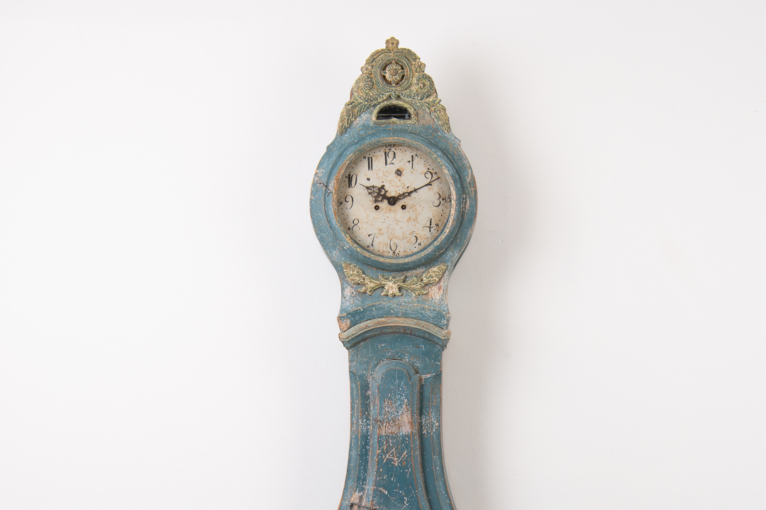 Blue Long Case Clock - Rococo and Neoclassical